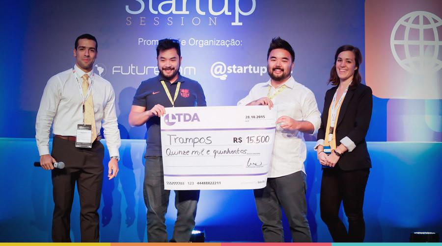 "prêmio ""Ltda Startup Award"" trampos.co"